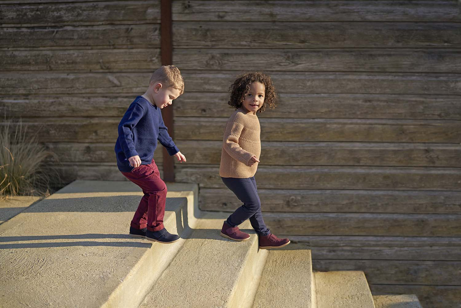 Girl & Boy on Steps